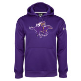 Under Armour Purple Performance Sweats Team Hoodie-Cowgirl Riding