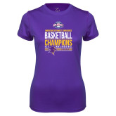 Ladies Syntrel Performance Purple Tee-2017 ASC Champions - Mens Basketball Stacked