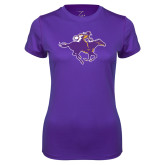 Ladies Syntrel Performance Purple Tee-Cowgirl Riding