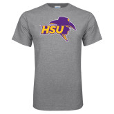 Grey T Shirt-HSU Cowboy