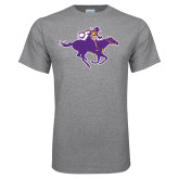Grey T Shirt-Cowgirl Riding