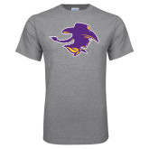 Grey T Shirt-Cowgirl Head