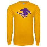 Gold Long Sleeve T Shirt-Cowgirl Head
