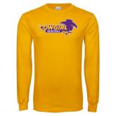 Gold Long Sleeve T Shirt-Cowgirls Basketball
