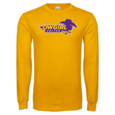 Gold Long Sleeve T Shirt-Cowgirls Soccer