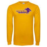 Gold Long Sleeve T Shirt-Cowgirls Soccer
