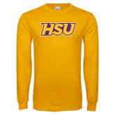 Gold Long Sleeve T Shirt-HSU