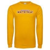 Gold Long Sleeve T Shirt-Hardin-Simmons Cowboys