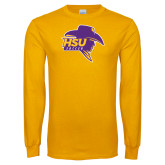 Gold Long Sleeve T Shirt-Mens Soccer