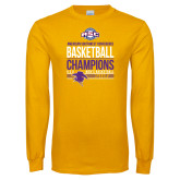 Gold Long Sleeve T Shirt-2017 ASC Champions - Mens Basketball Stacked