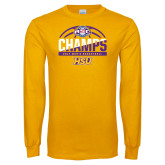 Gold Long Sleeve T Shirt-2017 ASC Champs - Mens Basketball Half Ball