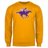 Gold Fleece Crew-Cowgirl Riding