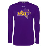 Under Armour Purple Long Sleeve Tech Tee-HSU Cowboy