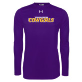 Under Armour Purple Long Sleeve Tech Tee-Hardin-Simmons Cowgirls