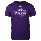 Adidas Purple Logo T Shirt-Primary Logo