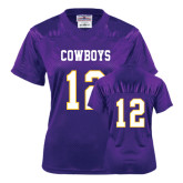 Ladies Purple Replica Football Jersey-#12