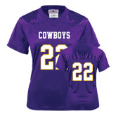 Ladies Purple Replica Football Jersey-#22