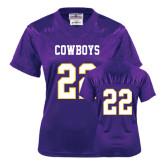 Ladies Purple Replica Football Jersey-#22