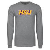 Grey Long Sleeve T Shirt-HSU