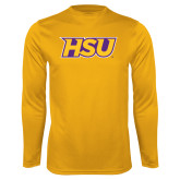 Syntrel Performance Gold Longsleeve Shirt-HSU