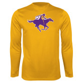 Performance Gold Longsleeve Shirt-Cowgirl Riding