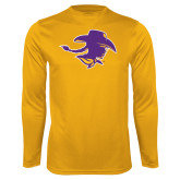 Syntrel Performance Gold Longsleeve Shirt-Cowgirl Head