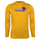 Syntrel Performance Gold Longsleeve Shirt-Cowgirls Basketball