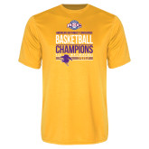 Syntrel Performance Gold Tee-2017 ASC Champions - Mens Basketball Stacked
