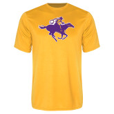 Performance Gold Tee-Cowgirl Riding
