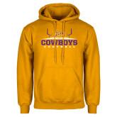 Gold Fleece Hoodie-Cowboys Football w/ Field
