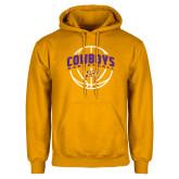 Gold Fleece Hoodie-HSU Cowboys Basketball w/ Ball