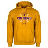 Gold Fleece Hoodie-HSU Cowboys Baseball w/ Seams