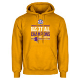 Gold Fleece Hoodie-2017 ASC Champions - Mens Basketball Stacked