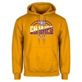 Gold Fleece Hoodie-2017 ASC Champs - Mens Basketball Half Ball