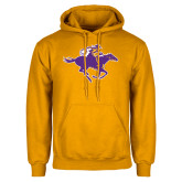 Gold Fleece Hoodie-Cowgirl Riding