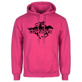 Fuchsia Fleece Hoodie-Primary Logo