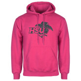 Fuchsia Fleece Hoodie-HSU Cowgirl Graphite Glitter