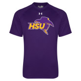Under Armour Purple Tech Tee-HSU Cowboy