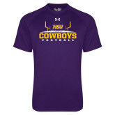 Under Armour Purple Tech Tee-Cowboys Football w/ Field