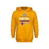 Youth Gold Fleece Hoodie-2017 ASC Champions - Mens Basketball Stacked