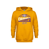 Youth Gold Fleece Hoodie-2017 ASC Champs - Mens Basketball Half Ball