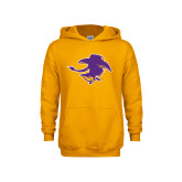 Youth Gold Fleece Hoodie-Cowgirl Head
