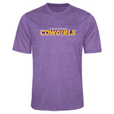 Performance Purple Heather Contender Tee-Hardin-Simmons Cowgirls