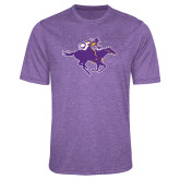 Performance Purple Heather Contender Tee-Cowgirl Riding