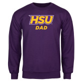 Purple Fleece Crew-Dad