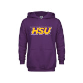 Youth Purple Fleece Hood-HSU