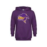 Youth Purple Fleece Hood-Mens Basketball