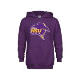 Youth Purple Fleece Hoodie-Mens Soccer