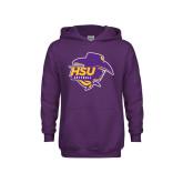 Youth Purple Fleece Hood-Softball