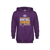 Youth Purple Fleece Hoodie-2017 ASC Champions - Mens Basketball Stacked